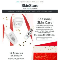 [SkinStore] Seasonal Skin Care | Shop up to 20% off!