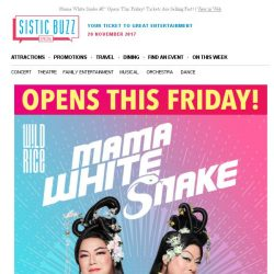 [SISTIC] Mama White Snake – Opens This Friday! Tickets Are Selling Fast!