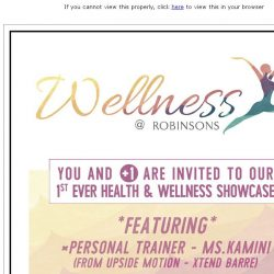 [Robinsons]  Special Invitation: Wellness at Robinsons
