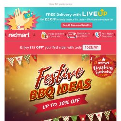 [Redmart] $15 OFF min $40! - Limited to 100 customers!