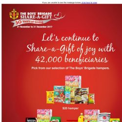 [Fairprice] Let's continue to Share-a-Gift of joy!