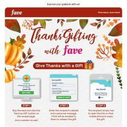 [Fave] Say more than thanks with Thanksgifting!