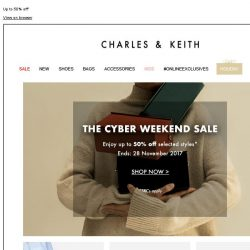 [Charles & Keith] THE CYBER WEEKEND SALE | SHOP NOW