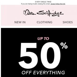 [Miss Selfridge] Black Friday = Up to 50% off!