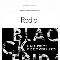 [RODIAL] 50% off Discovery Kits | 24 Hours Only!