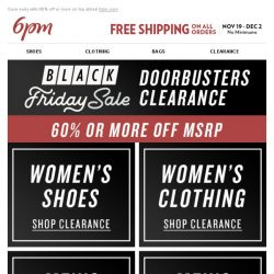 [6pm] Black Friday Doorbusters Clearance!