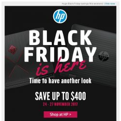 [HP Singapore]  Save up to $400 at HP Black Friday Sale!