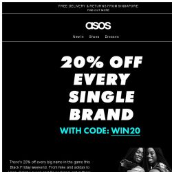 [ASOS] 20% off every single brand