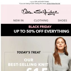 [Miss Selfridge] BLACK FRIDAY = £15 best-selling knits