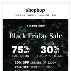 [Shopbop] Happy Black Friday! Up to 75% off with code MORE17