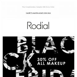 [RODIAL] Black Friday Continues: 30% off all Makeup