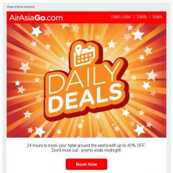[AirAsiaGo] 🌟 Hey, these deals will expire at midnight! 🌟