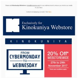 [Books Kinokuniya] 20% Off* WEBstorewide this CYBERMonday to WEBnesday! 💻 Exclusively for online purchase made from 27th to 29th November 2017!