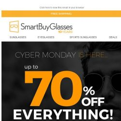 [SmartBuyGlasses] Cyber Monday - The only Monday you love! Up to 70% OFF Eyewear and much more 💙