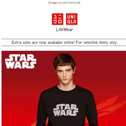 [UNIQLO Singapore] The Force is strong on this one.