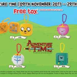McDonald's: FREE Adventure Time Toy with Every Happy Meal Purchased