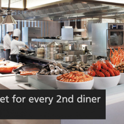 Marriott Cafe: Enjoy $2++ Lunch/Dinner Buffet for every 2nd Diner with DBS/POSB Cards
