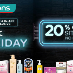 Watsons: Black Friday Sale with 20% OFF Sitewide, $25 OFF for Members & Many Buy 1 Get 1 Free Deals!
