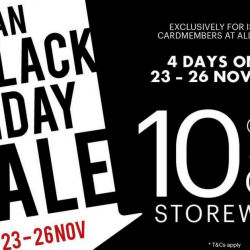 Isetan: Black Friday Sale with 10% OFF Storewide for Members + Special Buys