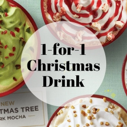 Starbucks: Enjoy 1-for-1 Christmas Drink from 3pm to 7pm!