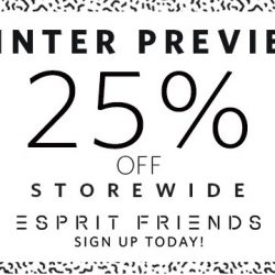 Esprit: Winter Preview Sale with 25% OFF Storewide