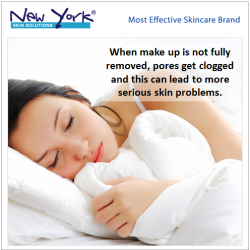 [New York Skin Solutions] Thorough make up removal is important as it reduces the risk of developing pimples, redness, blackheads and whiteheads.