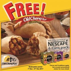 [Old Chang Kee Singapore] FREE Old Chang Kee Curry' O with purchase of NESCAFÉ 6 cans pack!