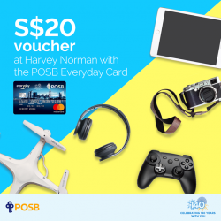 [POSB Autolobby] Celebrate Harvey Norman's 16th Anniversary with your POSB Everyday Card!