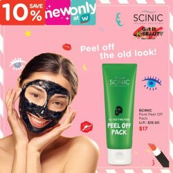 [Watsons Singapore] Infused with charcoal and volcanic ash, Scinic's Pore Peel Pack effectively draws out impurities, dead skin, and excess sebum