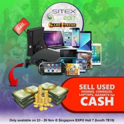 [GAME XTREME] Sell your used games, consoles, phones and gadgets for cash at our GameXtreme booth at the highest buyback prices out