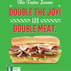 [The Lingerie Collection] Get double the joy with double the meat at Subway, 01-20.
