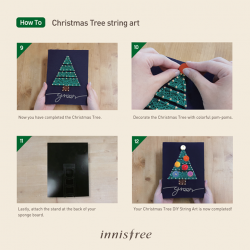 [Innisfree Singapore] Want to make, enjoy and share a personalised Christmas Tree string art piece?