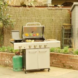 [BQ Mart] Outback Meteor 4 Stainless Steel Barbecue .