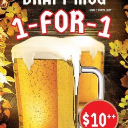 [Otaru Suisan] Gather your drinking kakis to enjoy our all day 1-for-1 Sapporo Draft Mug!