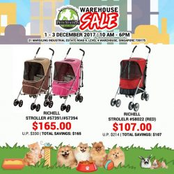 [Pets' Station] PSWarehouseSale SNEAK PREVIEW50% OFF RICHELL Strollers