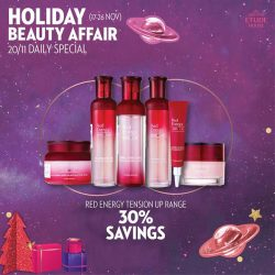 [Etude House Singapore] Be My Universe Holiday Beauty Affair 🔮- Daily Special Day 4 -Enjoy 30% Savings on all Red Energy Tension Up range!