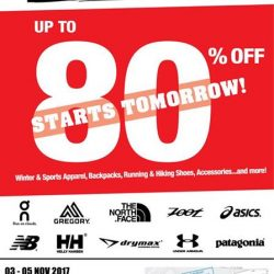 [Running Lab] 1 more day to the Outdoor Venture Warehouse Sale!