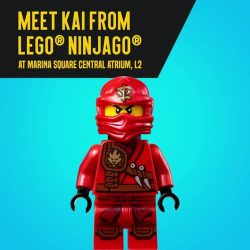 [Flaming Queen Home] Meet Kai from LEGO Ninjago here at Marina Square, Central Atrium L2!
