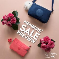 [Kipling] LAST CHANCE for our lovely Kipling Friends Members to enjoy promos at the YEAR END SALE PREVIEW valid till 20th