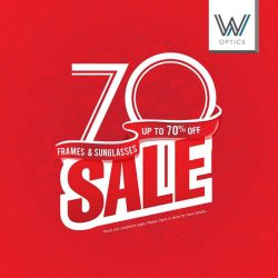 [W Optics] Enjoy up to 70% on selected branded eyewear at W Optics year end sale.