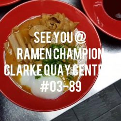 [Ramen Champion Singapore] Are you ready for Buta God 1-for-1?