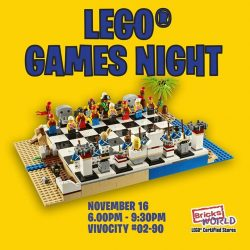 [Bricks World (LEGO Exclusive)] Instore Activity: LEGO Games NightFor a different in-store experience, Bricks World will be organizing a LEGO Games Night