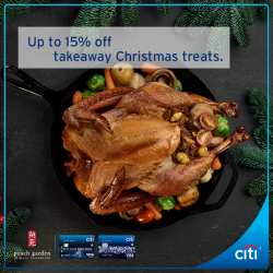 [Citibank ATM] Treat your loved ones this festive season with baked turkey, glazed ham and more from Peach Garden.