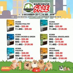 [Pets' Station] PSWarehouseSale SNEAK PREVIEWACANA make Biologically Appropriate™ dog and cat foods from fresh regional ingredients and we make them from
