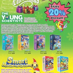 [Times bookstores] Enjoy 20% discount on the Young Scientists and Smart Mathematicians children magazines!