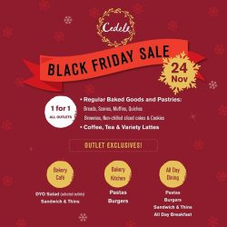 [Cedele] Don't miss out the chance to get your hands on this 1-FOR-1 deals this Black Friday Sale!