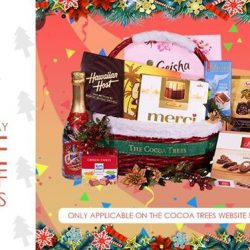 [The Cocoa Trees] Enjoy 15 % more Discount with FREE delivery for online purchase on Christmas hampers.