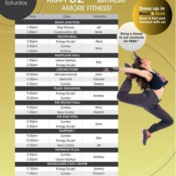[Amore Fitness] Amore Fitness turns 32 this month!
