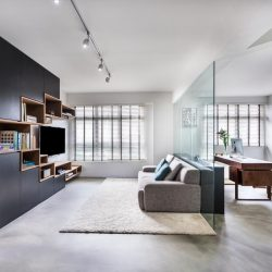 [Commune] Loving how our Simonera sofa, Excelsior writing desk and Weiland black leather arm chair look in this stylish contemporary home