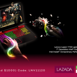 [Lenovo] Lenovo LEGION Y720 is the beast you'll need to tame your game with its incredible gaming performance and next-